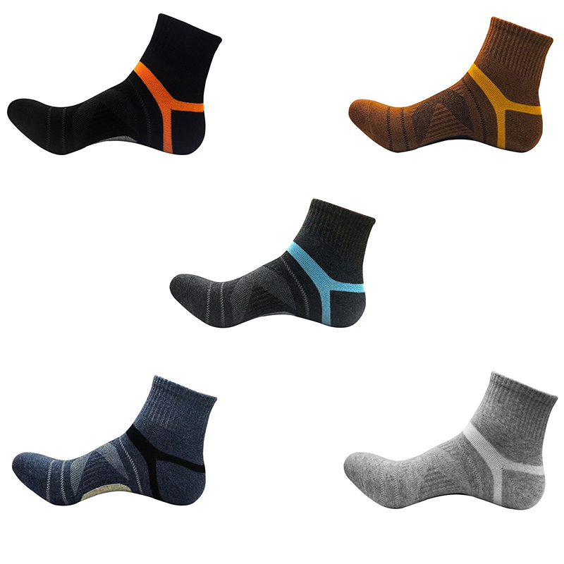 Men\'s Breathable Running Waterproof/Windproof Cycling Hiking Outdoor Sport Socks New Basketball Socks Middle Tube Socks