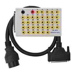38ピンobdブレイクアウトボックスOBD2ライン信号テスタープロトコル検出器canデータリンク診断ツールmbの車のため