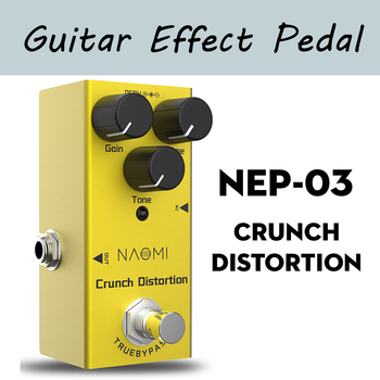 цена на Guitar Effects Pedal Crunch Distortion Effect Mini Single Distortion Pedal True Bypass NEP-03 Guitar Pedal Effect