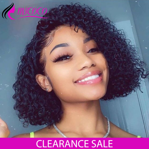 Mscoco Short Curly Bob Wig Lace Front Human Hair Wigs Curly Lace Front Wig Pre Plucked Remy Brazilian Curly Human Hair Wig(China)