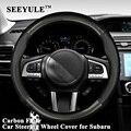 1pc SEEYULE Carbon Faser Auto Lenkrad Abdeckung Protector Leder Sportlichen Styling für Subaru XV BRZ Forester Outback Legacy-in Lenkradbezug aus Kraftfahrzeuge und Motorräder bei