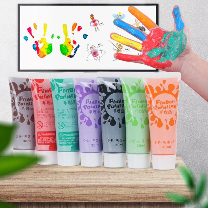 Finger Paint Pigment Wall Painting Professional Acrylic Paints Set Hand Painted  Textile Paint Brightly Colored Art Supplies