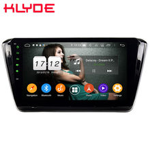 "Klyde 10,1 ""IPS 4G Android 9,0 Octa Core 4GB RAM 64GB ROM DSP BT coche DVD reproductor Multimedia estéreo para Skoda Superb B8 2015-2019(China)"