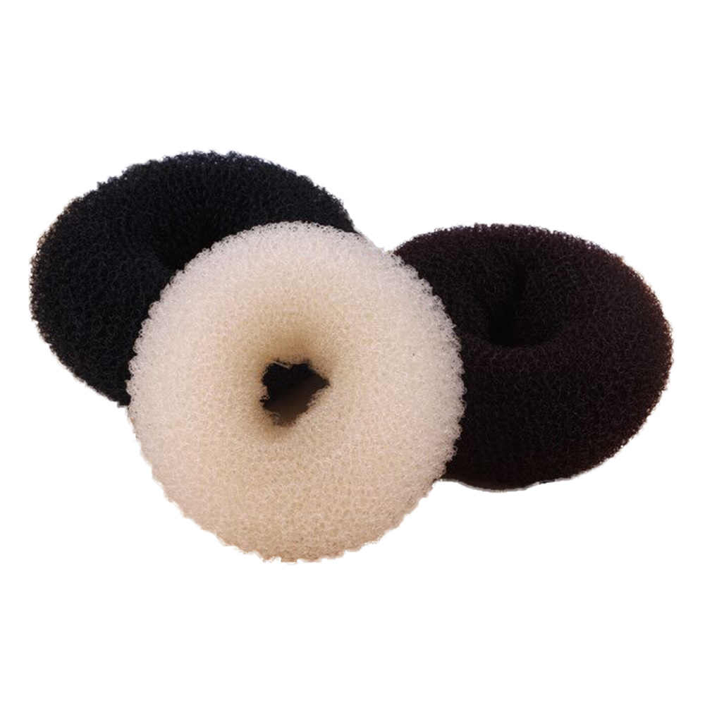 3Pcs 9cm Bentuk Donat Rambut Ring Fashion Lucu Ikat Tali Styling Alat untuk Wanita Elastis Headband Tiara Ekor Kuda pemegang Gadis
