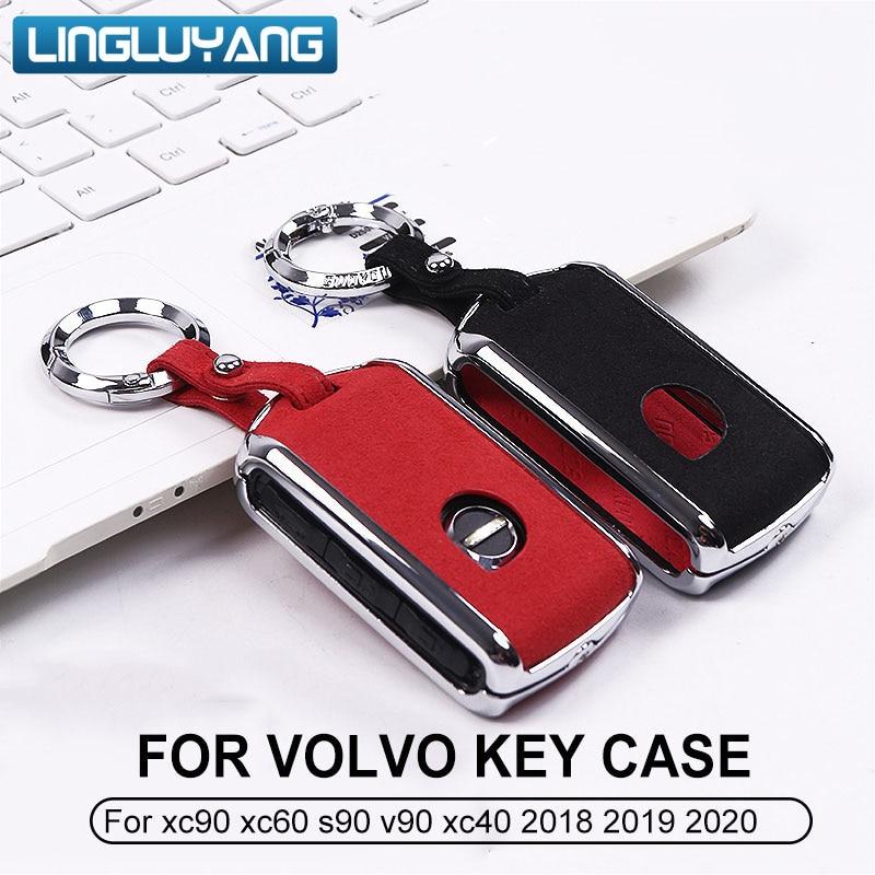 for Volvo XC60 key case V90 S90 XC90 xc60 xc40 modified metal aluminum 2017-2019 model car accessories
