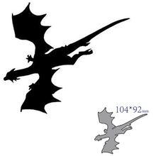 Corte de metal dados corte morrer molde dragão decoração scrapbook papel ofício faca molde lâmina soco estênceis morrer