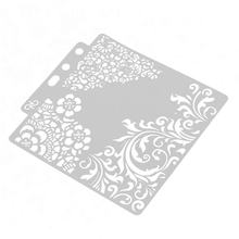 S53 Multifunctionele Shadow Tekening Masker Holle Patroon Spuiten Boards Masking Spray Template Gelaagdheid Stencils Thuis Verf Decor(China)