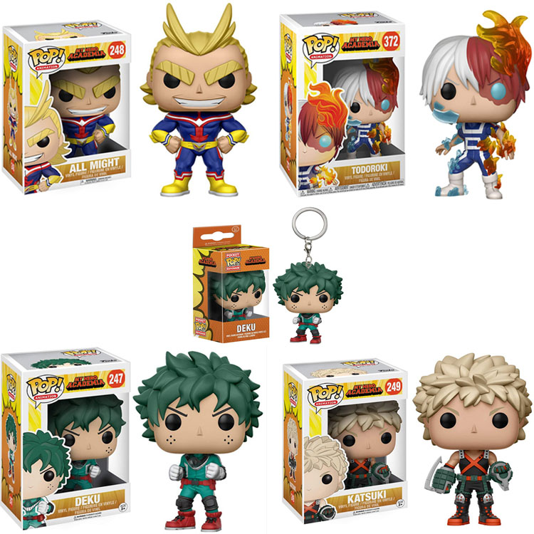 Funko Pop Midoriya Izuku All Might Ground Zero Todoroki Shoto Keychain Toy My Hero Academia Action Figure For Gift