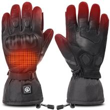 Motorcycle-Heating-Gloves Cycling Riding Warm Racing Waterproof Outdoors Winter Sports