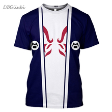 LBG New 3D Print аниме наруто T-shirt Men and women fashion casual Naruto Sports Harajuku short sleeve