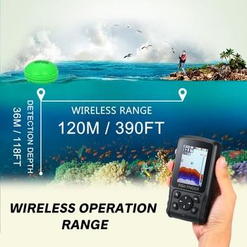 Draadloze Echo-Sirene Fishfinder XF-11 Voor Vissen Waterdichte LCD Li-batterij Opladen Aantrekkelijke Lamp Sonar Sensor 2.8 Inch