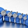 Настоящий природный Муассанит 3ct карат Кольца для женщин обручальные кольца S925 серебряное кольцо с покрытием из AU750 D Цвет невесты ювелирные...