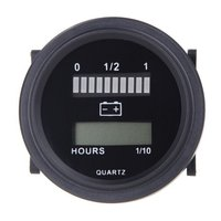 12 v/24 v/36 v/48 v/72 v led indicador de carga de status de bateria digital com medidor de hora preto Temporizadores de água no jardim    -