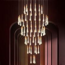 Modern Crystal Water Drops Led Chandelier Lighting Living Room Led Pendant Chandeliers Lights Stair Lobby Led Hanging Lamp youlaike modern crystal chandelier spiral design long staircase hanging chandeliers lighting indoor hallway crystal lights