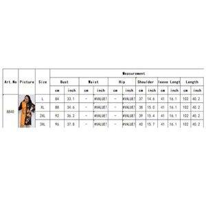 Image 5 - 新しい秋シフォンボディコンドレスアフリカ服女性のフラワープリントシフォンパッチワーク O ネック膝丈ドレスオフィス女性