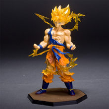Anime Dragon Ball Z Goku Super Saiyan 1 versão Limitada DBZ Goku PVC Action Figure Collectible Modelo Toy 17cm(China)