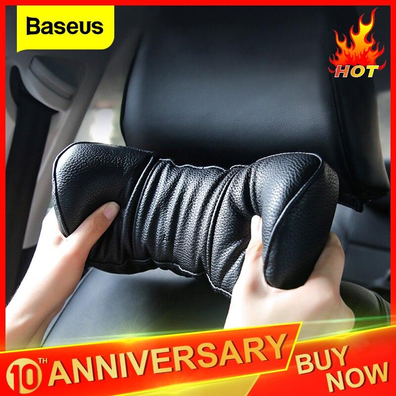 Baseus voiture cou oreiller réglable en cuir PU appui-tête 3D mémoire mousse repose-tête siège coussin housse voiture cou reste Auto accessoires