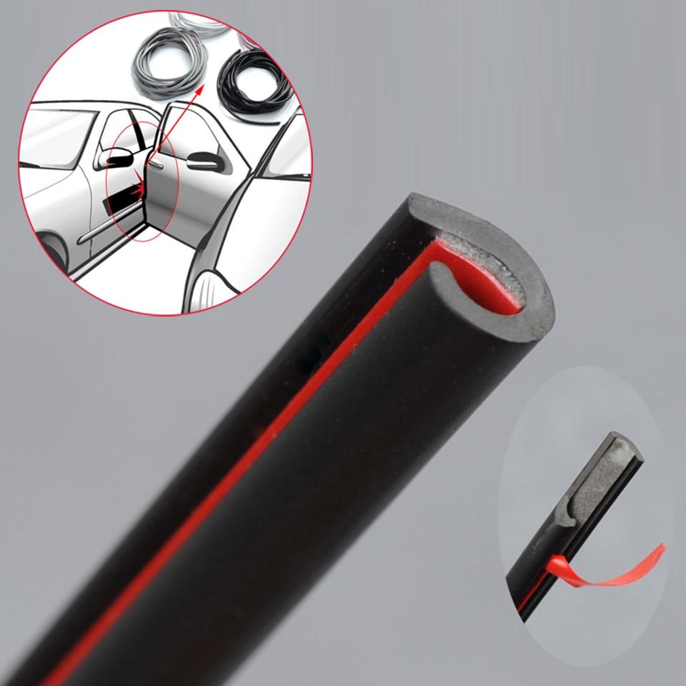 Car 5 Meters Door Edge Rubber Scratch Protector Anti Collision Scratch Protection Car Door Rubber Car Sealing Strips Sticker