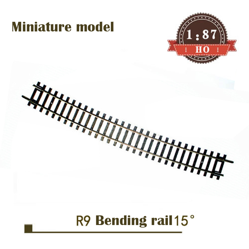 Miniature Model  1:87  HO Ratio  R9 Curved Rail 55219 15 °  Single Subgrade Rail Set  Train Sand Table Material