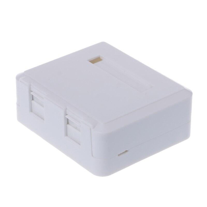 Купить с кэшбэком Desktop JB Dual-port Panel Ethernet Cable Junction Box with 2 Cat6 Modules