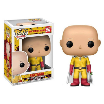 FUNKO POP ONE PUNCH-MAN Saitama #257 Action Figure Toys Anime Figure Models Dolls for Kids Birthday Gifts 1