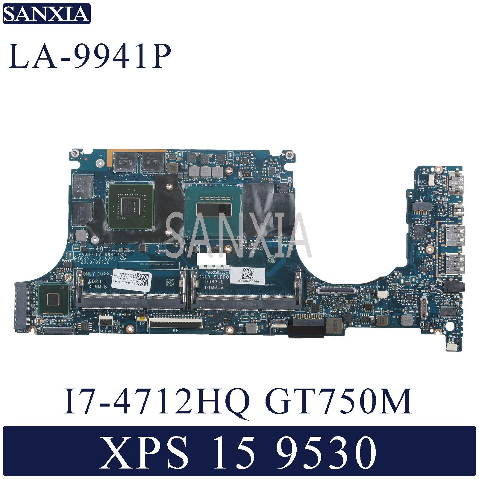 KEFU LA-9941P Laptop Motherboard For Dell XPS-15 9530 Original Mainboard I7-4712HQ/4702HQ GT750M