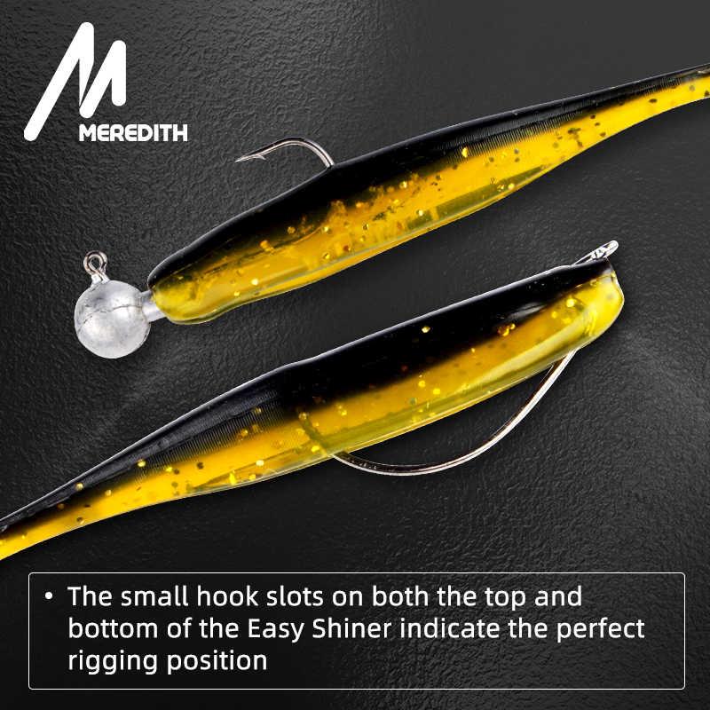 Рыболовные приманки Meredith Easy Shiner 50 мм 75 мм 100 мм 130 мм воблеры Карп мягкие приманки для рыбалки силиконовые искусственные двухцветные приманки