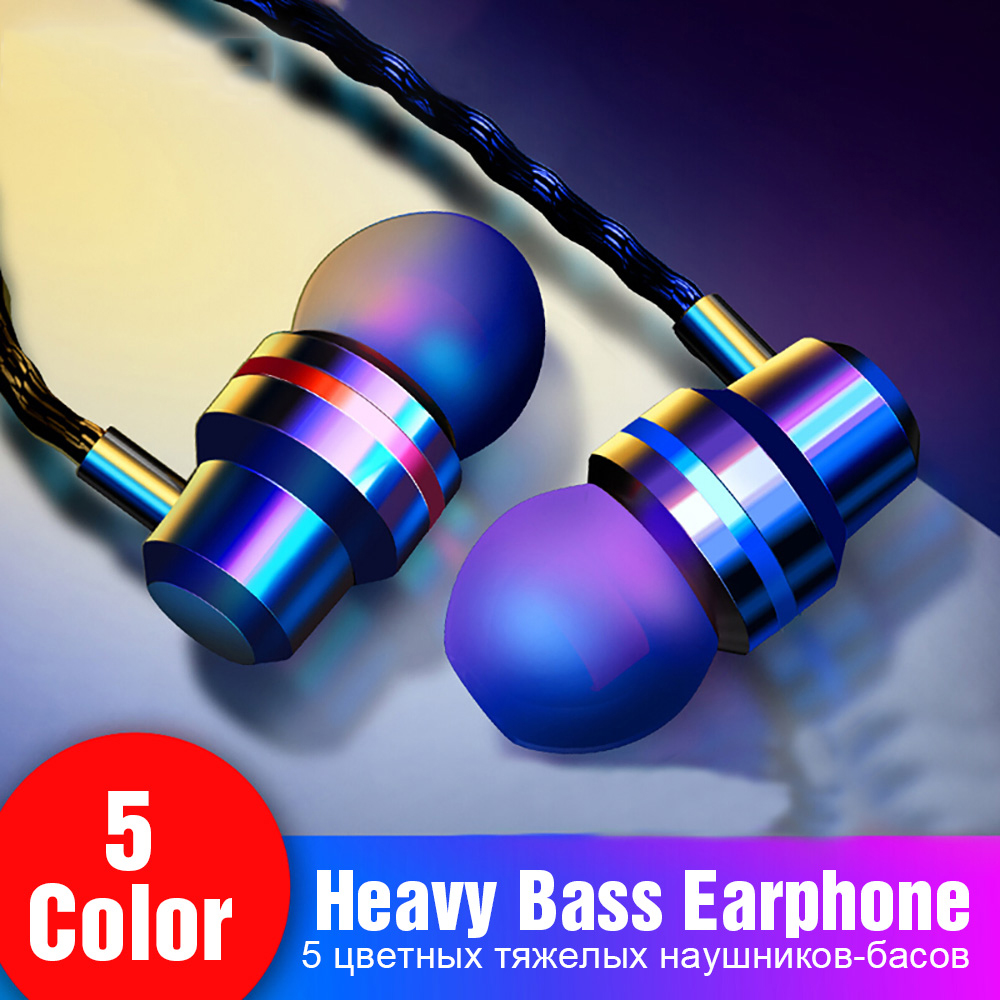 Nennbo Wired Earbuds Headphones 3.5mm In Ear Earphone Earpiece With Mic Stereo Headset 5 Color For Samsung Xiaomi Phone Computer