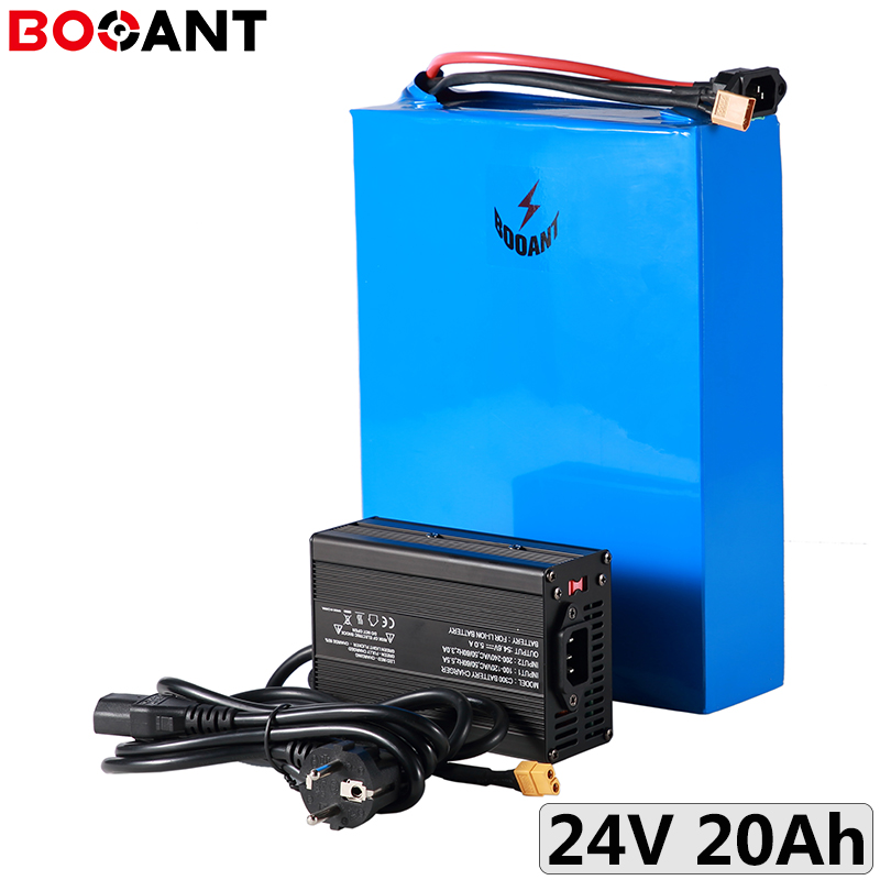 7S <font><b>24V</b></font> 20Ah 500W E-bike Lithium battery pack for Samsung 18650 <font><b>24V</b></font> electric <font><b>scooter</b></font> Rechargeable battery pack with <font><b>5A</b></font> <font><b>Charger</b></font> image
