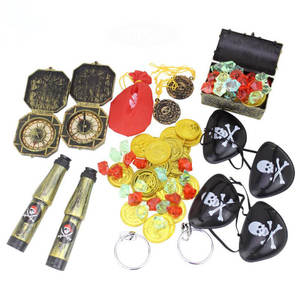 Dress-Up-Set Toy Treasure-Toys Kids Chest Gem Coin Pirate Gold