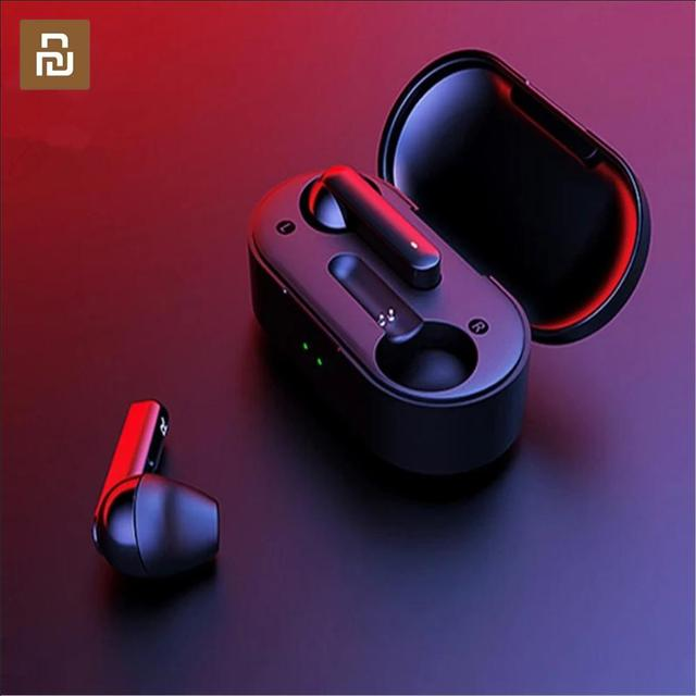Youpin T3 TWS Fingerprint Touch Wireless Headphones Bluetooth V5.0 3D Stereo Dual Mic Noise Cancelling Earphones