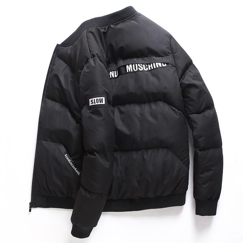 Black Winter Jacket Thicken Warm Coat For Men Normal Length Full Sleeve Snow-outwear Overcoat Windbreake Large Size 3XL 4XL