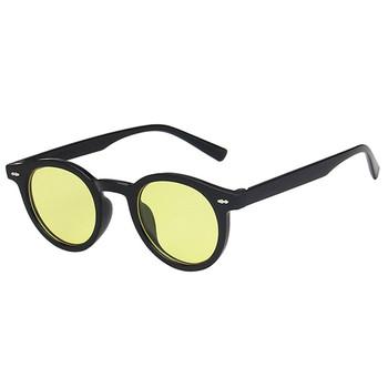 Gorące męskie małe okulary przeciwsłoneczne damskie okrągłe okulary damskie damskie okulary przeciwsłoneczne eleganckie okulary óculos De Sol tanie i dobre opinie curtain CN (pochodzenie) WOMEN Owalne Dla dorosłych Z tworzywa sztucznego UV400 Żywica 18046 Black China Gafas Oculos