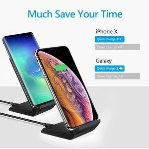 Image 4 - Drahtlose Ladegerät 15W QI Schnelle Drahtlose Ladestation Für Samsung S10 Plus S9 S8 Hinweis 10 9 8 Huawei xiaomi iPhone 11 XR XS Max X