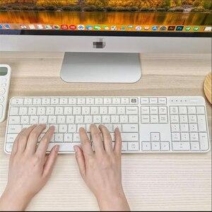 Image 2 - オリジナル youpin miiiw rf 2.4 ghz ワイヤレスオフィスキーボードマウスセット 104 キー windows pc mac 対応ポータブル usb キーボード
