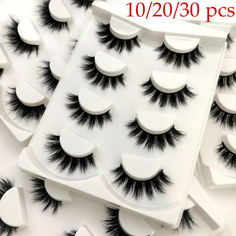 Wholesale Mink Lashes 3D Mink Eyelashes 100% Cruelty free Lashes Handmade Reusable Natural Eyelashes Popular False Lashes Makeup