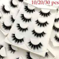 Wholesale Mink Lashes 3D Mink Eyelashes 100% Cruelty free Lashes Handmade Reusable Natural Eyelashes Popular False Lashes Makeup
