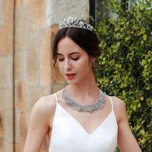Vintage corte novia corona barroca reina Rosa aleación corona Simple accesorios de vestido de novia joyería accesorios de la cabeza de las mujeres