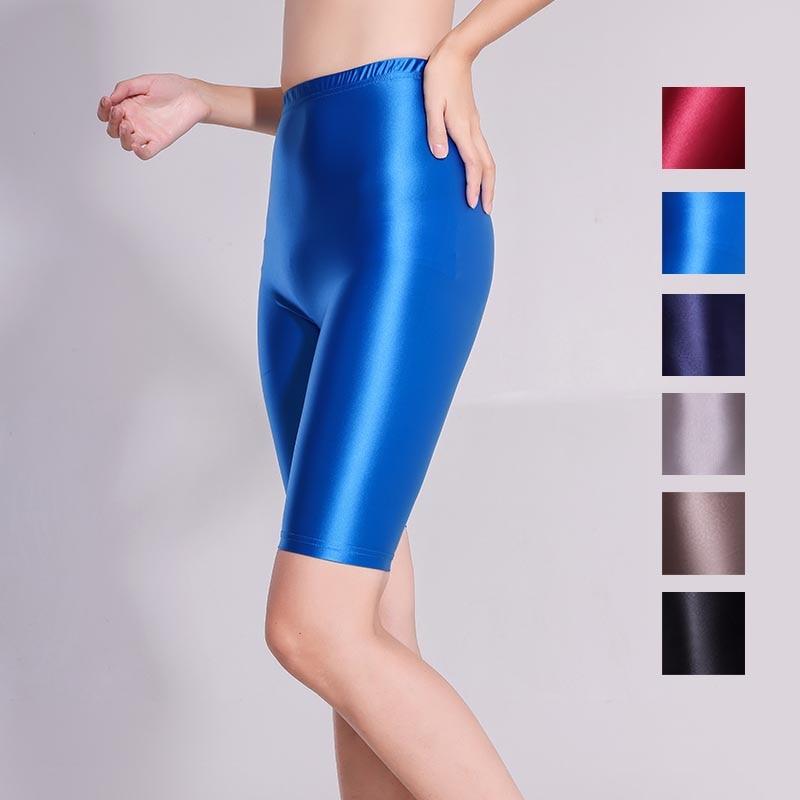 XCKNY Xckny 5-point bottomed fitness pants quick drying pants shiny skinny pants sexy high waist glossy pants