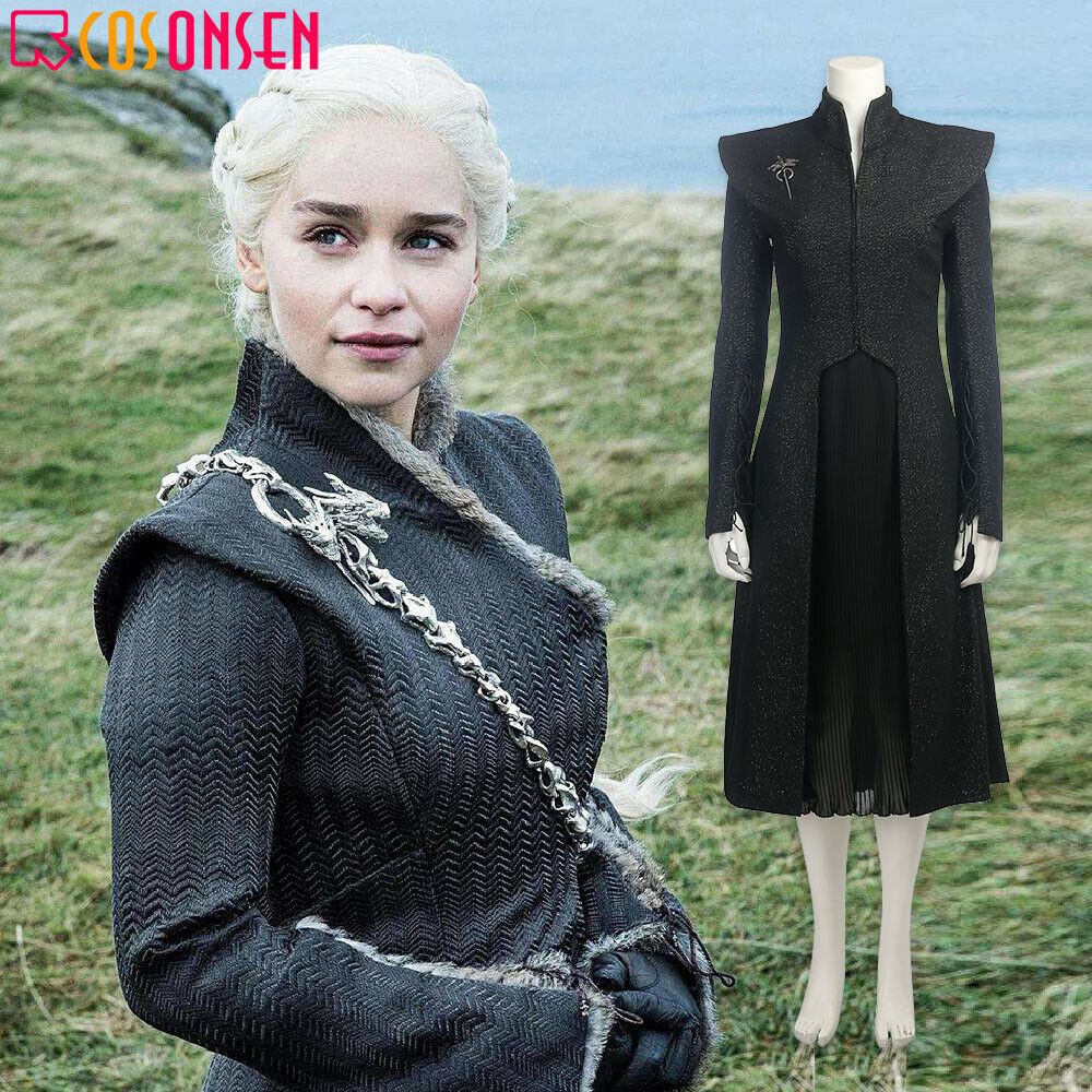 Game Of Thrones Season 7 Daenerys Targaryen Cosplay Costume Adult Mother Of Dragons Halloween Outfit COSPLAYONSEN