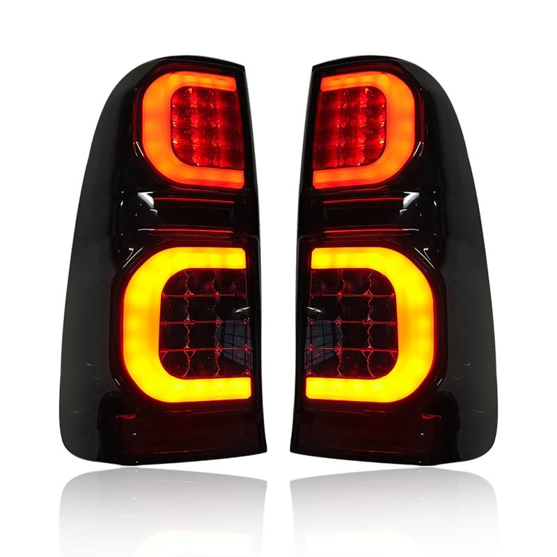 Image 5 - LED REAR LIGHT TAIL LAMP FIT FOT HILUX VIGO 2005 2014 CAR LED BRAKE LIGHTS REAR LAMP BLACK LIGHTING CAR ACCESSIRIES AUTO LAMPCar Light Assembly   -