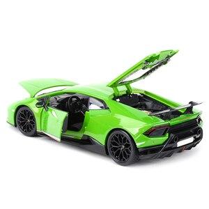 Image 4 - Maisto 1:18 הוריקן Performmante LP610 4 ירוק ספורט רכב סטטי סימולציה למות יצוק כלי רכב אספנות דגם רכב צעצועים