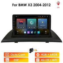 Android 10 Car Radio GPS Navigation for BMW X3 E83 2004 - 2008 2009-2012 Multimedia 1080P Video Player USB Wifi 4G Double Din FM