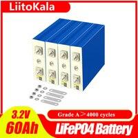 LiitoKala 3.2v 60ah Lifepo4 celle alta 5C 300A corrente di scarica Bateria per fai da te 12v Ebike Car Boat Start camper solare solare