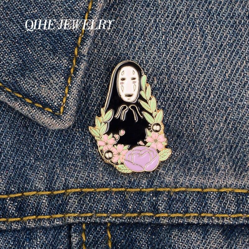 QIHE bijoux représentant japonais Anime broches broches NF homme dur émail métal broches Denim vêtements Badges épingles cadeaux pour les Fans