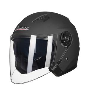 Image 3 - JIEKAI קסדת אופנוע פנים פתוחים אופנוע קסדת Moto קסדות Motocicleta Cascos Para Motorbiker קטנוע רכיבה קסדה