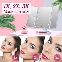 Rotatable & Portable LED Light Makeup Mirror