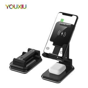 Image 1 - Station de charge rapide sans fil 2 en 1 pour téléphone, pour iphone 11 Pro Max XS X10W Qi Samsung S20 S10 Note 9 8 7 6