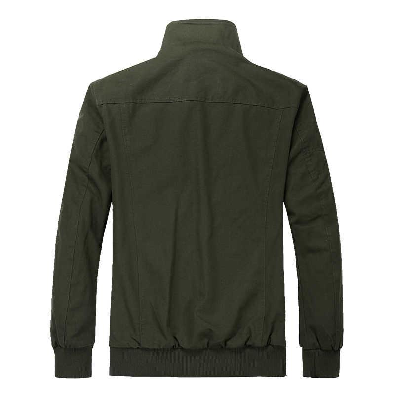 Eğik Fermuar Askeri Ceket Erkekler Sonbahar Kış Pamuk Mens Taktik Ceketler Çok cep Bombacı Ceket Erkek Euro Boyutu S-3XL