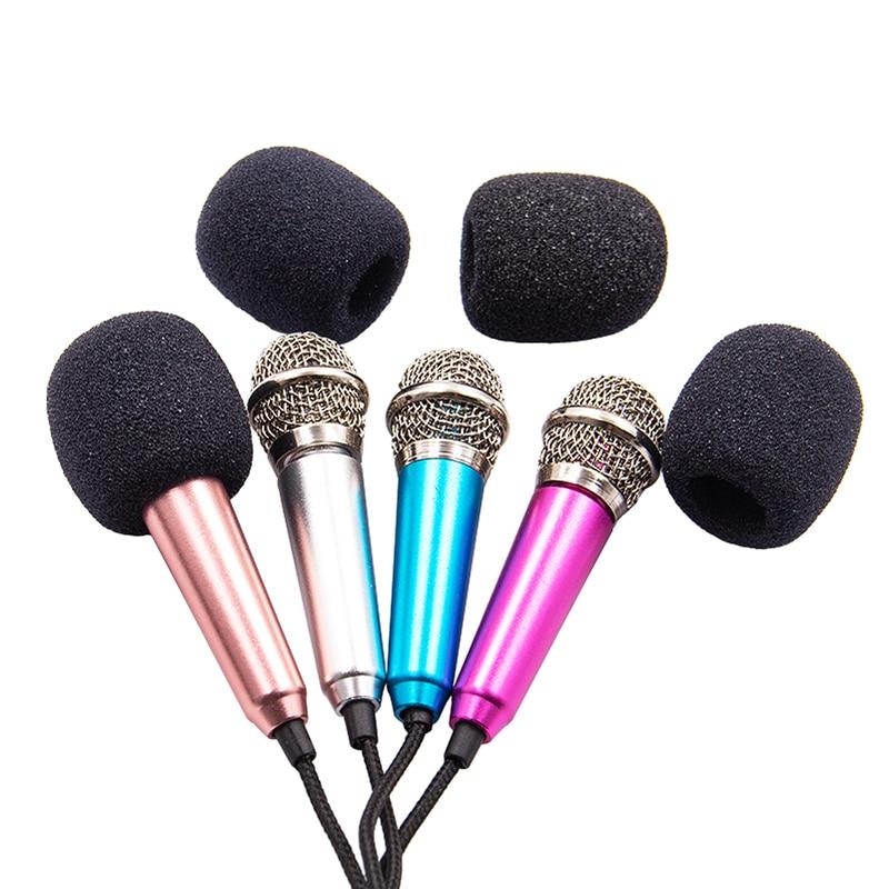 Mini micrófono PORTÁTIL ESTÉREO para estudio, 3,5mm, KTV, Karaoke, teléfono inteligente, ordenador portátil, PC, micrófono de Audio portátil